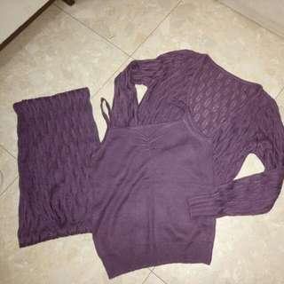 🚚 紫色毛衣