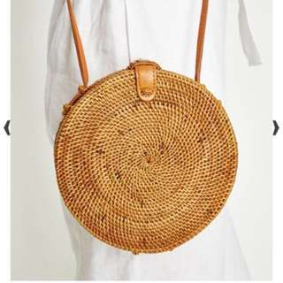 ATA BAG - Handwoven Round Rattan Bag