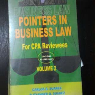 Pointers in Business Law (For CPA Reviewees) Volume 2 2006 Edition SUAREZ