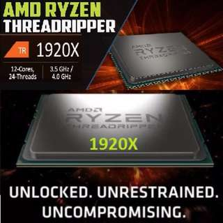 AMD RYZEN TR4 THREADRIPPER 1920X.