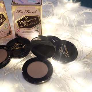 TOO FACED Bronzers (deluxe) , chocolate soleil and milk chocolate soleil