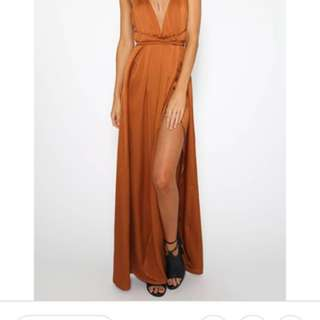 Peppermayo Lancaster Dress Orange