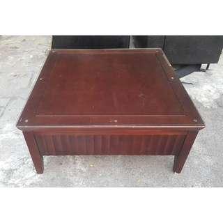 東鼎二手家具 貴族胡桃木 3.5尺方形大茶几(含玻璃)*和室桌*茶几桌*客廳桌*沙發桌*矮桌*泡茶桌*餐桌*造型桌*邊桌