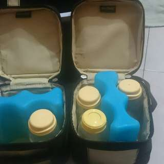 Cooler bag+ice brick+tote bag