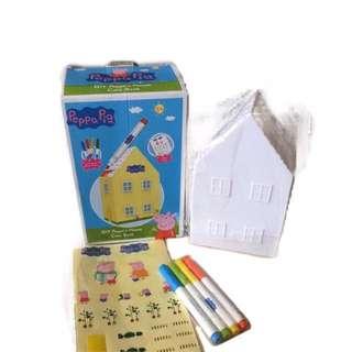 DIY Peppa's House Coin Bank / Peppa Pig / Coin Bank / Colouring & Sticking / Christmas Gift Idea