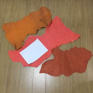 Bright leather pieces for diy