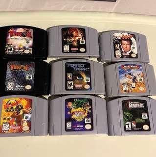 N64 games - various used
