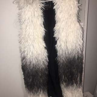 Guess long fur vest