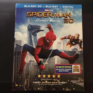 Spider-Man Homecoming Blu Ray 3D