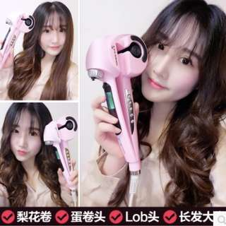 Automatic Hair Steam Curler Ceramic Curling Iron Wand Salon Professional Auto Rotating Styling Steamer Spray Curl Spiral Machine Tool with LED Digital Display