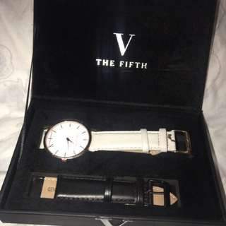 The fifth interchangeable band watch