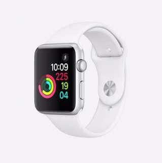 全新apple watch銀殻的白銀帶42mm (series 1)