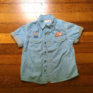 Gingersnaps Cotton Shirt for boys