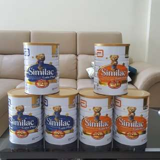 PROMO: Similac Gain kid 3 cans 1.8kg   $126 / Gain plus 3 cans 1.8kg  $130   Free delivery north area!!   Ready stock!!