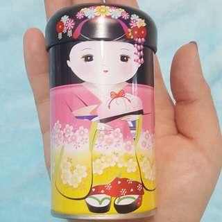 日本和服娃娃小鐵罐