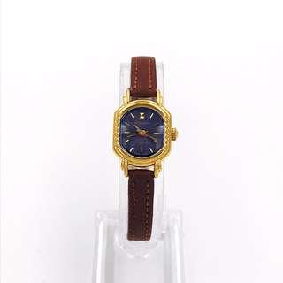 老上海 女裝迷你真皮錶金上鏈機械手錶 大約出產年份2005年
