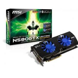 MSI GeForce GTX 580 1536MB LIGHTNING XTREME EDITION (N580GTX LIGHTNING XE) Graphics Card