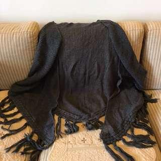 DIESEL毛海三角大圍巾