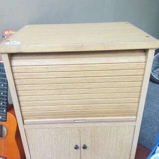 Almost new Mini cabinet with roll up door from japan