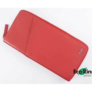 Tumi Wallet Leather Red