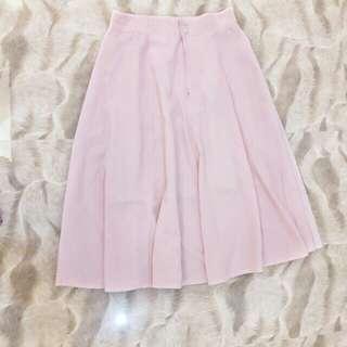 Blush Pink Maxi Skirt