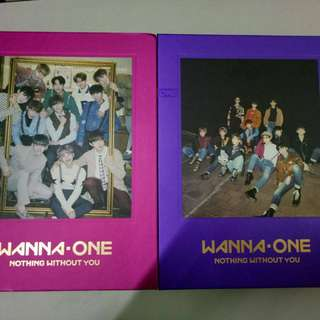 Wanna One unsealed album + poster