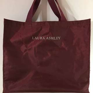 LAURA ASHLEY 酒紅包 手提包 工作包