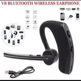 突破500好評超特賣!現貨100%New! 本店又一誠意性價比之選~簡約V8商務藍牙耳機 Bluetooth Earphone Iphone Apple Lg Sony 小米 華為 iPhone 8 iPhone X