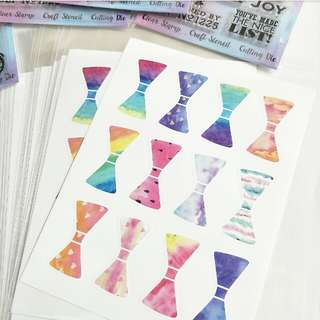 #1212YES RAINBOW RIBBON BOW SEAL STICKER