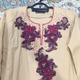 Like new fully beaded baju kurung
