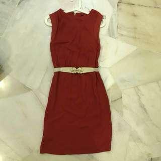 BN Mango Red Dress