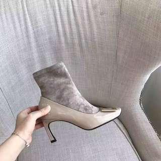 Roger Vivier 新款襪靴顯瘦女士真皮短靴
