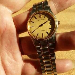 swiss sandoz  quartz瑞士山度士石英錶