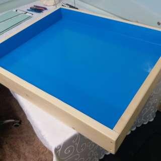 沙盤遊戲治療木箱
