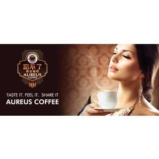 AUREUS Coffee  Ginseng / Ganoderma extract  (Net Weight 600gm : 30gm X 20 sachets)