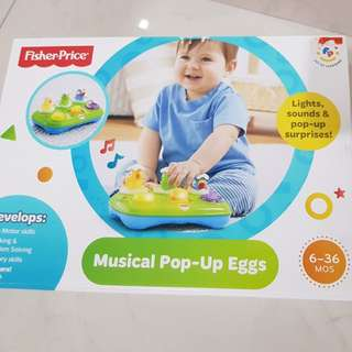 Fisher price musical pop up egg
