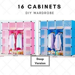 [SALE] DIY modular 16 cabinet / wardrobes / storage #1212YES