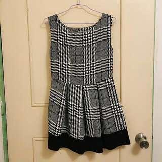 細緻格紋無袖洋裝 連身裙