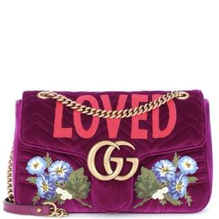 GG Marmont Medium velvet shoulder bag