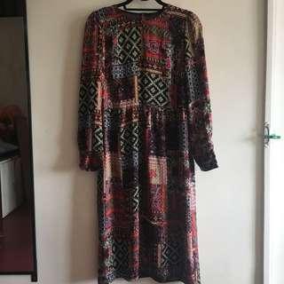 Zara long dress vintage print