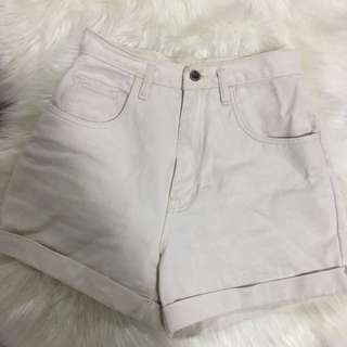 Cream High Waisted Vintage Shorts