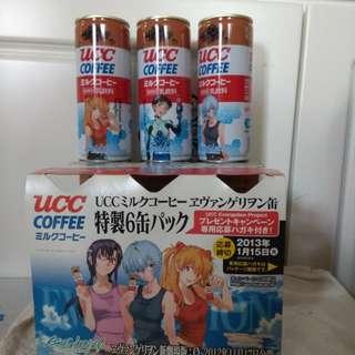 UCC EVA 咖啡罐連紙託6罐