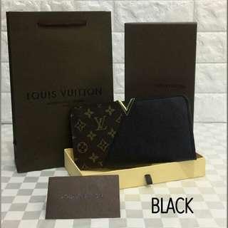 Louis Vuitton Kimono Wallet Black Color