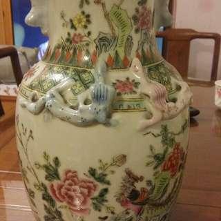 大清同治年花瓶
