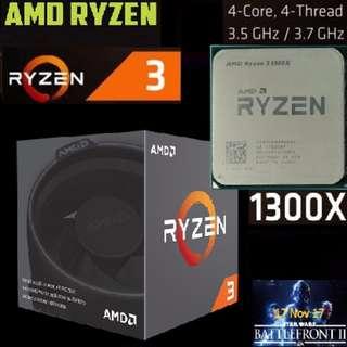 AMD RYZEN 3 1300X with Wraith Stealth 65W Cooler.