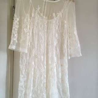 Embroidered H&M dress