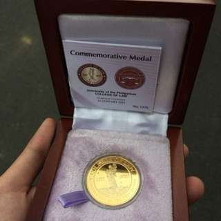 UP college of law centennial commemorative medal