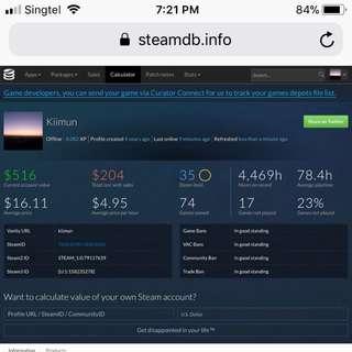 Steam account (Read Description)