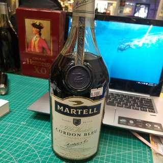 n183 90年代馬爹利藍帶燕子青瓶1000ml Martell cordon bleu cognac