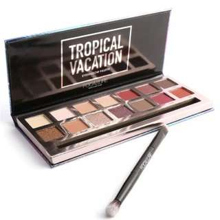 Limited Stocks Focallure Tropical Vacation 14 piece eyeshadow palette